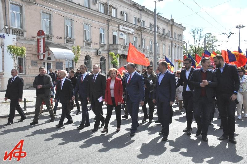 Первомайский марш прошёл по Кишинёву