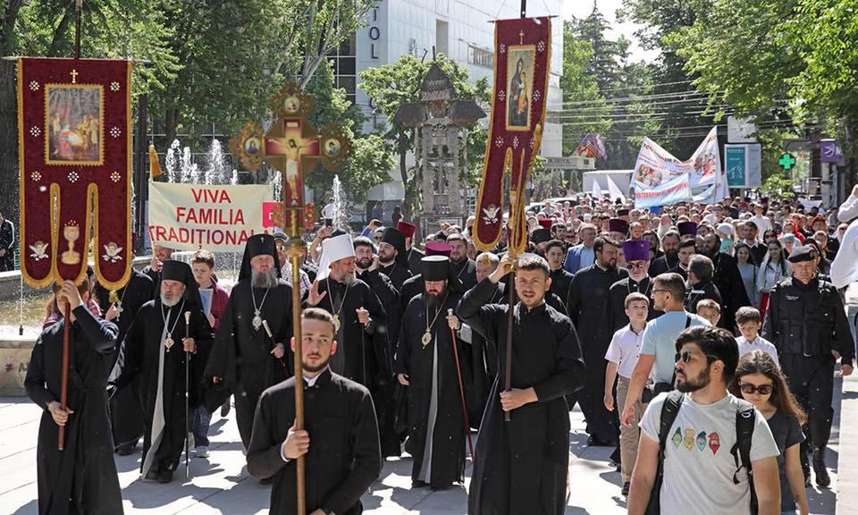 В Кишиневе проходит Марш в поддержку традиционных семей