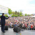 Тысячи бельчан принимают участие в грандиозном концерте под эгидой президента (ФОТО)