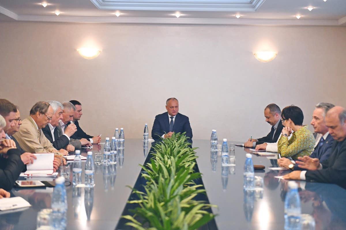 Додон встретился с главами комиссий Совета гражданского общества при президенте (ФОТО, ВИДЕО)
