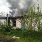 ЧП на предприятии: в посёлке Красное загорелся недействующий строительный цех (ФОТО)
