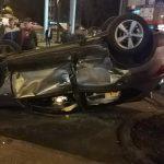 На Ботанике в результате аварии перевернулся автомобиль (ФОТО)