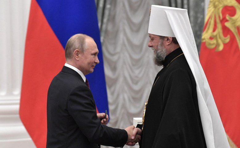 Путин наградил Митрополита Владимира Орденом Дружбы (ФОТО, ВИДЕО)