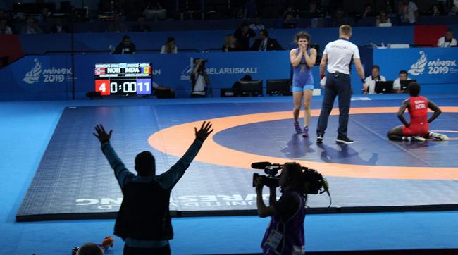 Ещё одну медаль завоевала молдавская сборная: борчиха Анастасия Никита взяла бронзу