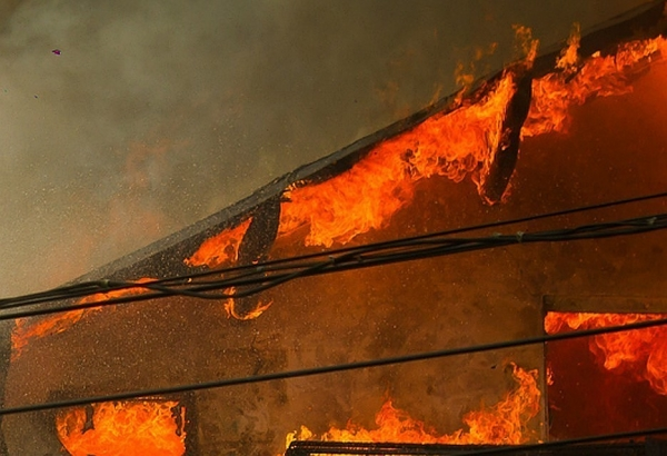 Пожар в гагаузском селе: загорелась кровля жилого дома