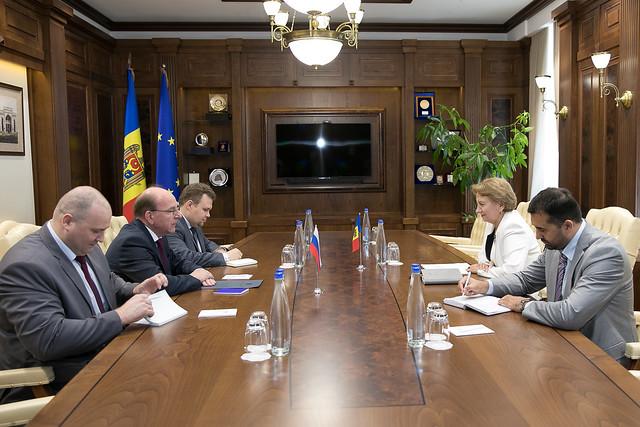 Гречаный провела встречу с послом России в Молдове
