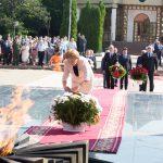 Зинаида Гречаный почтила память погибших в годы ВОВ