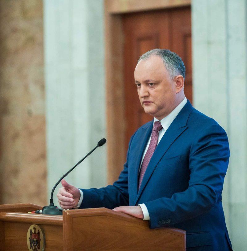 Игорь Додон выступил с обращением к гражданам