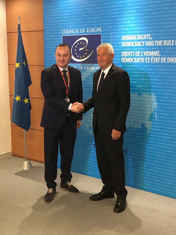 Vlad Batryncha thanked the Secretary General of the Council of Europe for supporting the new government in Moldova