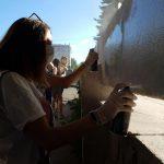 «Молодая гвардия» в рамках акции закрасила все объявления о продаже наркотических веществ в центре столицы (ФОТО)