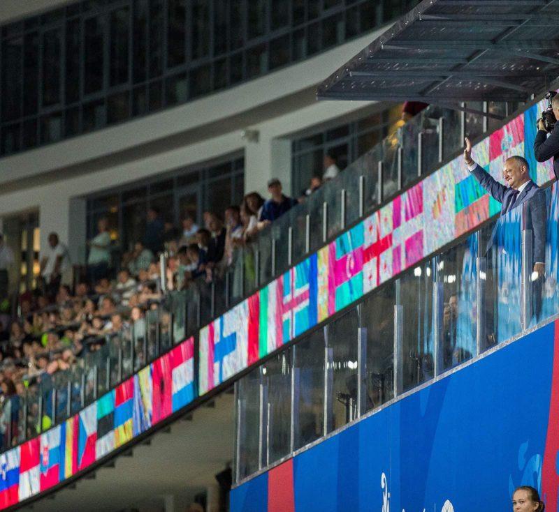 Президент поприветствовал молдавскую сборную на Вторых Европейских играх в Минске (ФОТО, ВИДЕО)