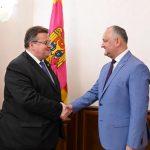 Додон провел встречу с главой МИД Литвы (ФОТО, ВИДЕО)
