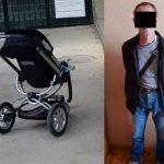 Кража детской коляски в столице попала на камеру: вор задержан (ВИДЕО)