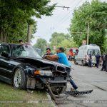 Серьёзное ДТП в Бельцах: в результате удара перевернулся микроавтобус (ФОТО)
