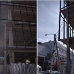НАРЭ оштрафовало стройкомпанию, превратившую электрический столб в элемент строящегося дома