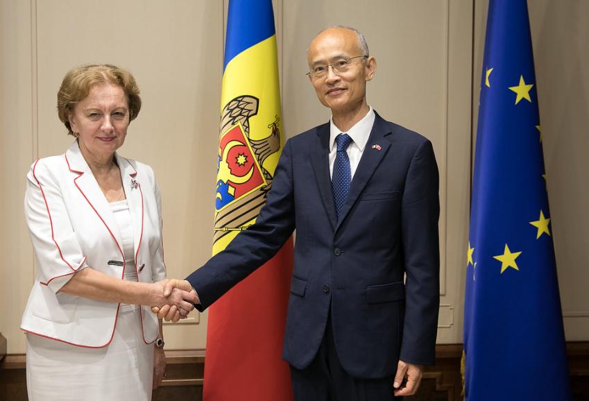 Зинаида Гречаный встретилась с послом Китая в Молдове