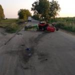 Водитель трактора попал в больницу в тяжёлом состоянии после аварии в Глодянском районе
