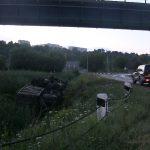 В Рыбнице опрокинулся КамАЗ с металлоломом: водитель не справился с управлением (ФОТО)