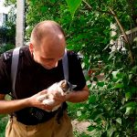 В Тирасполе спасатели помогли упавшему в трубу котёнку (ФОТО)