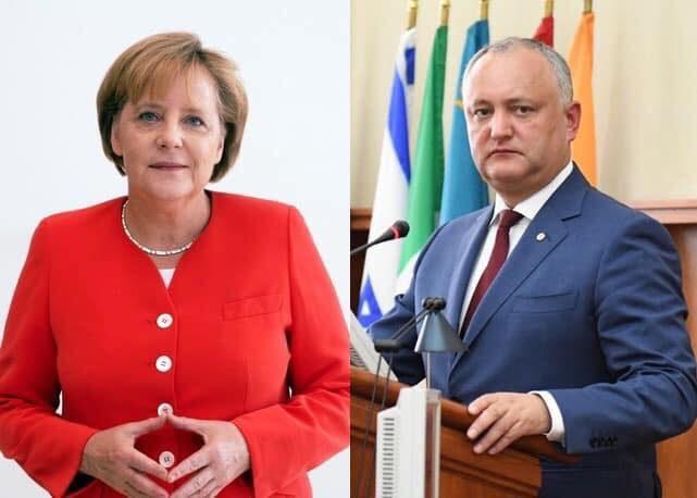 Додон поздравил Меркель с днём рождения