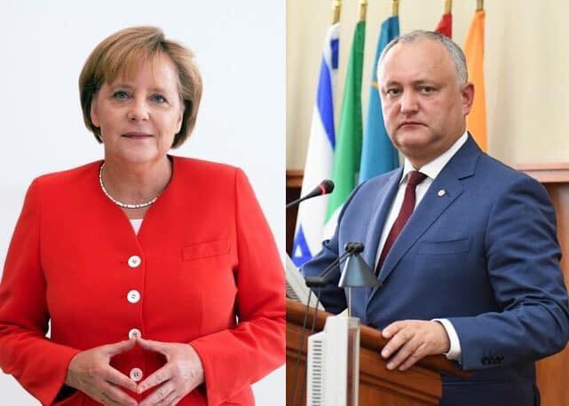 Igor Dodon congratulated Angela Merkel on her birthday
