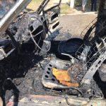 В центре Тараклии полностью сгорел автомобиль (ФОТО)