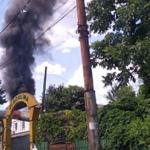 На Ботанике загорелась свалка: пожарным удалось локализовать пламя