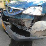 В центре столицы дорогу не поделили Lexus и автомобиль такси: машины получили серьёзные повреждения (ФОТО, ВИДЕО)