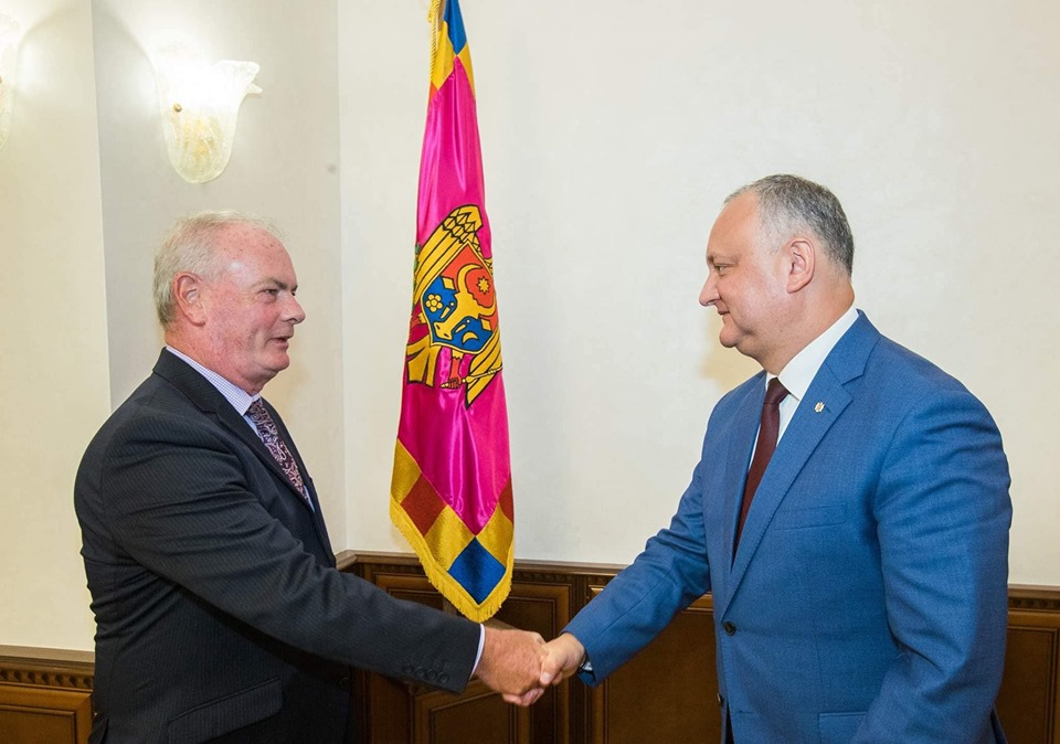 Президент провел встречу с послом Ирландии в Молдове (ФОТО, ВИДЕО)