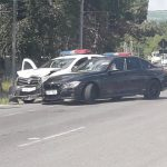 (ОБНОВЛЕНО) В столице произошла авария с участием машины полицейских