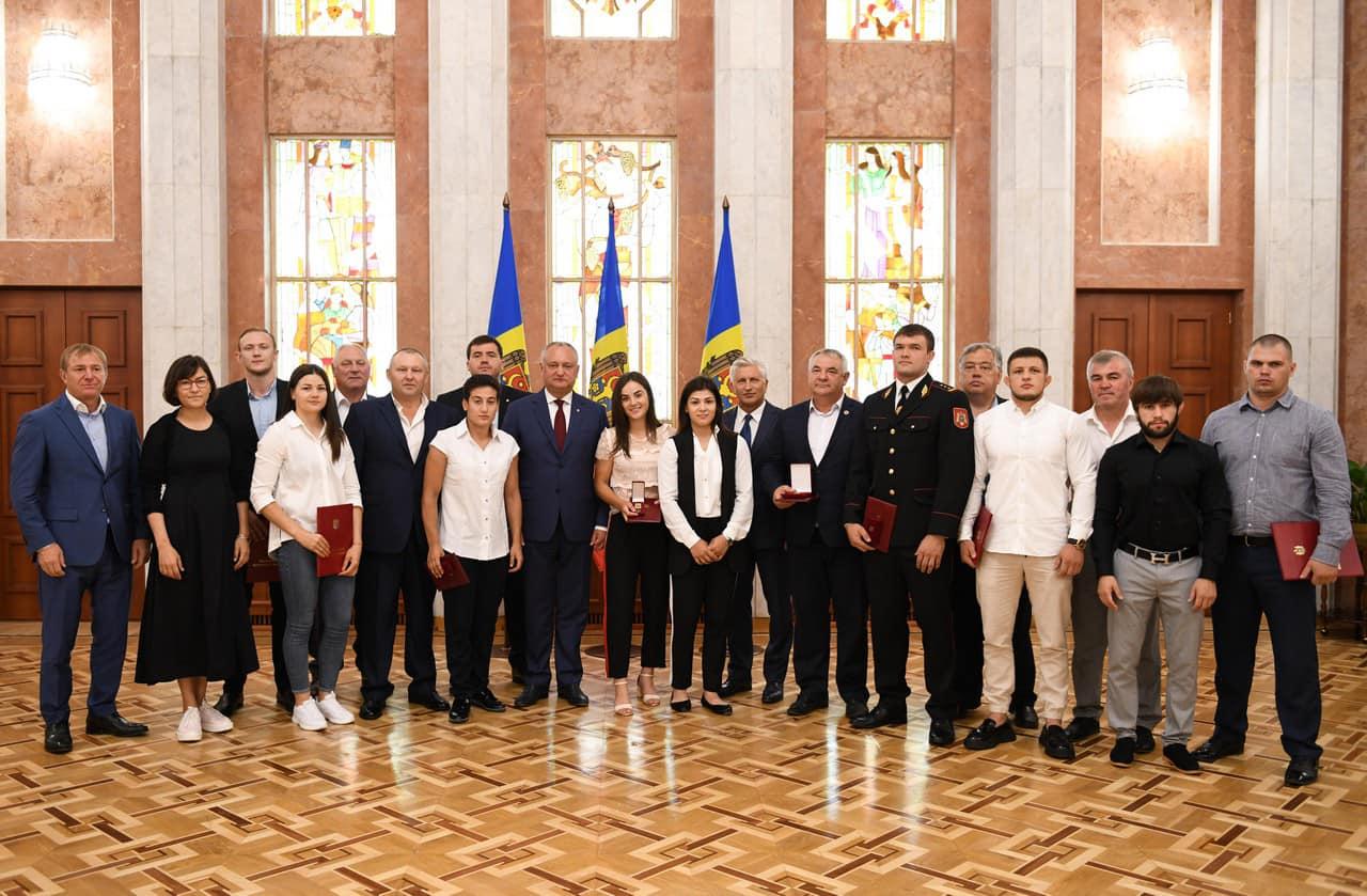 Сказано – сделано! Президент наградил молдавских спортсменов, завоевавших медали на Вторых Европейских Играх в Минске (ФОТО, ВИДЕО)