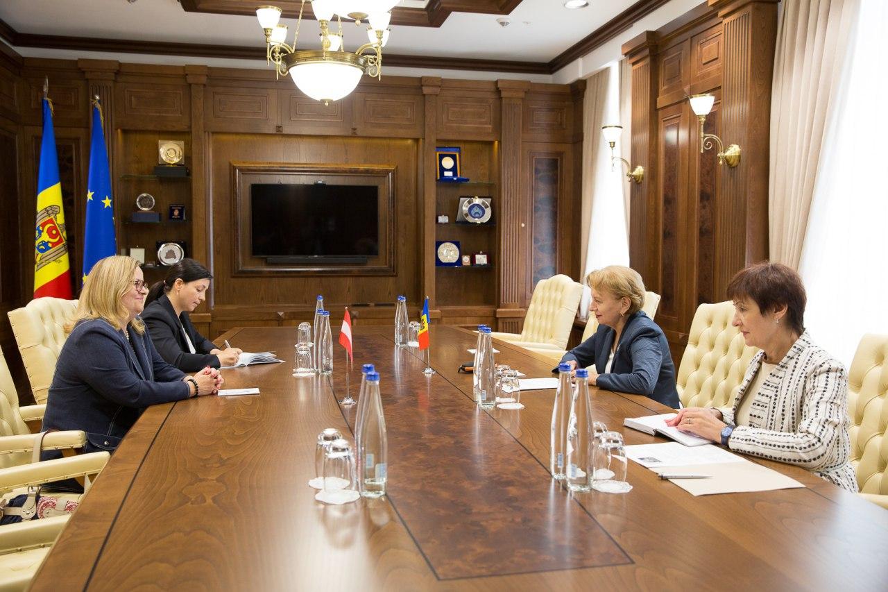 Председатель парламента встретилась с послом Австрии в Молдове