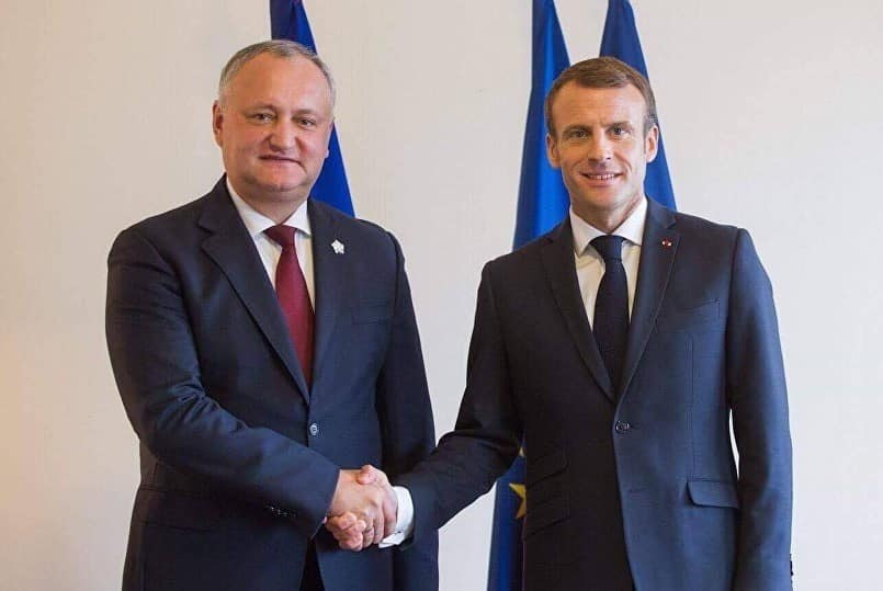 Igor Dodon congratulated Emmanuel Macron on the National Day of the French Republic