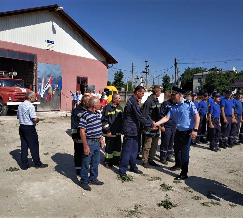 В Хынчештах открылась новая волонтёрская пожарная часть (ФОТО)