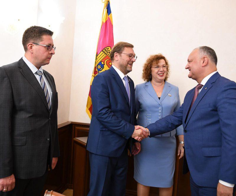 Президент встретился с делегацией Госдумы РФ, прибывшей на инаугурацию Ирины Влах (ФОТО, ВИДЕО)