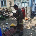 Пожар в Каушанах: спасатели эвакуировали из горящего дома двоих детей (ФОТО)