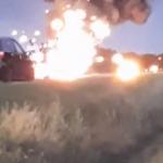 В Оргеевском районе дотла сгорел автомобиль (ВИДЕО)