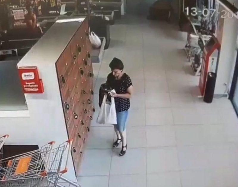 В Бельцах разыскивают женщину, покинувшую супермаркет с чужой сумкой (ВИДЕО)
