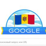 Поисковик Google отметил дудлом День независимости Республики Молдова