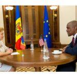 Гречаный провела встречу с Чрезвычайным и Полномочным Послом США в Молдове