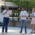В Кишинёве состоялось торжественное открытие сквера театра имени Чехова (ФОТО)