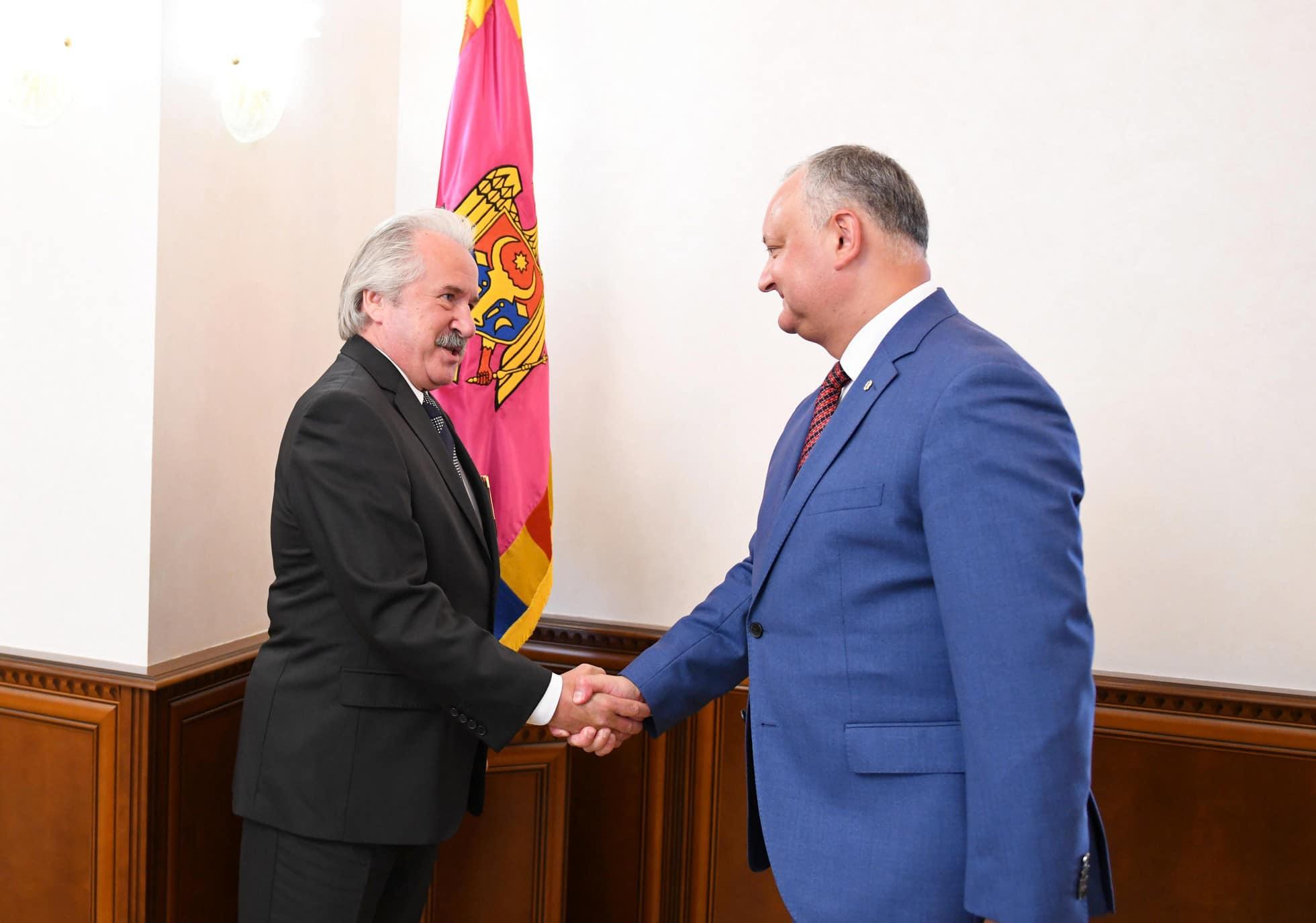 Игорь Додон провел рабочую встречу с послом Турции в Молдове (ФОТО)