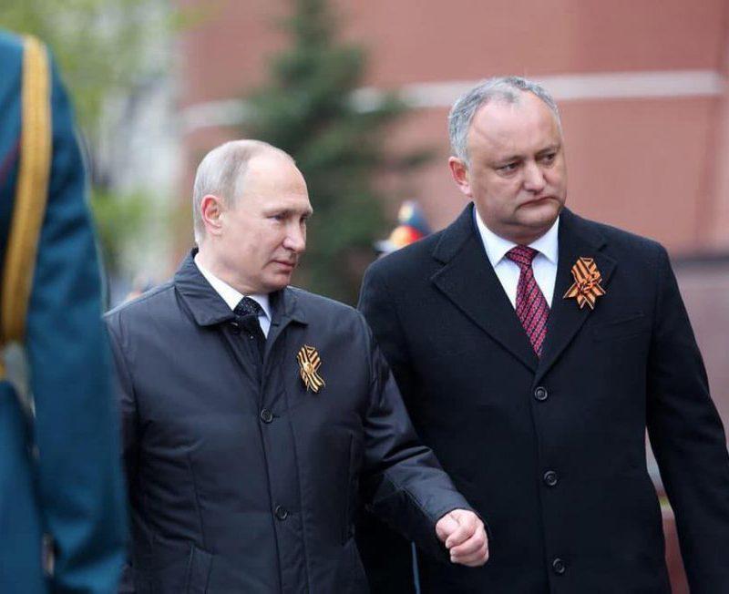 Путин пригласил Додона принять участие в праздновании 75-ой годовщины Победы в Москве