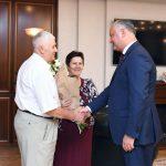 Президент поздравил с 50-летием совместной жизни супружескую пару Мукуца из Сынжеры (ФОТО, ВИДЕО)
