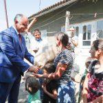 Год семьи: президент навестил с подарками многодетную семью и супругов-долгожителей в Штефан-Водэ (ФОТО, ВИДЕО)