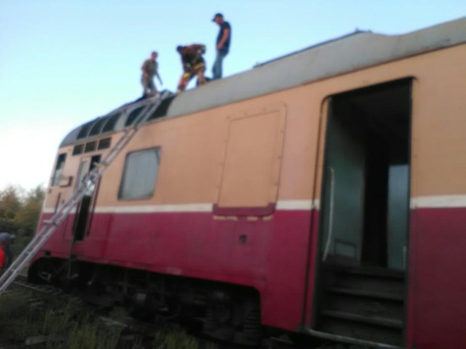 В Фалештах загорелся поезд с пассажирами