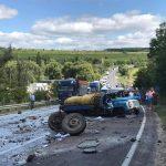 Ещё одно жуткое ДТП в Хынчештах: перевернулся молоковоз, водитель погиб (ФОТО)