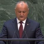 Историческое выступление: о чем говорил Игорь Додон с трибуны Генеральной ассамблеи ООН (ВИДЕО)