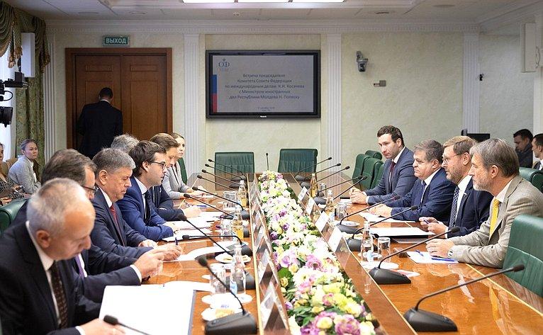 Парламентарии Молдовы и России активно работают над восстановлением двусторонних контактов, – Косачев