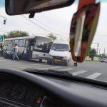 Комбо: В Унгенах произошло ДТП с участием автобуса, маршрутки и легковушки